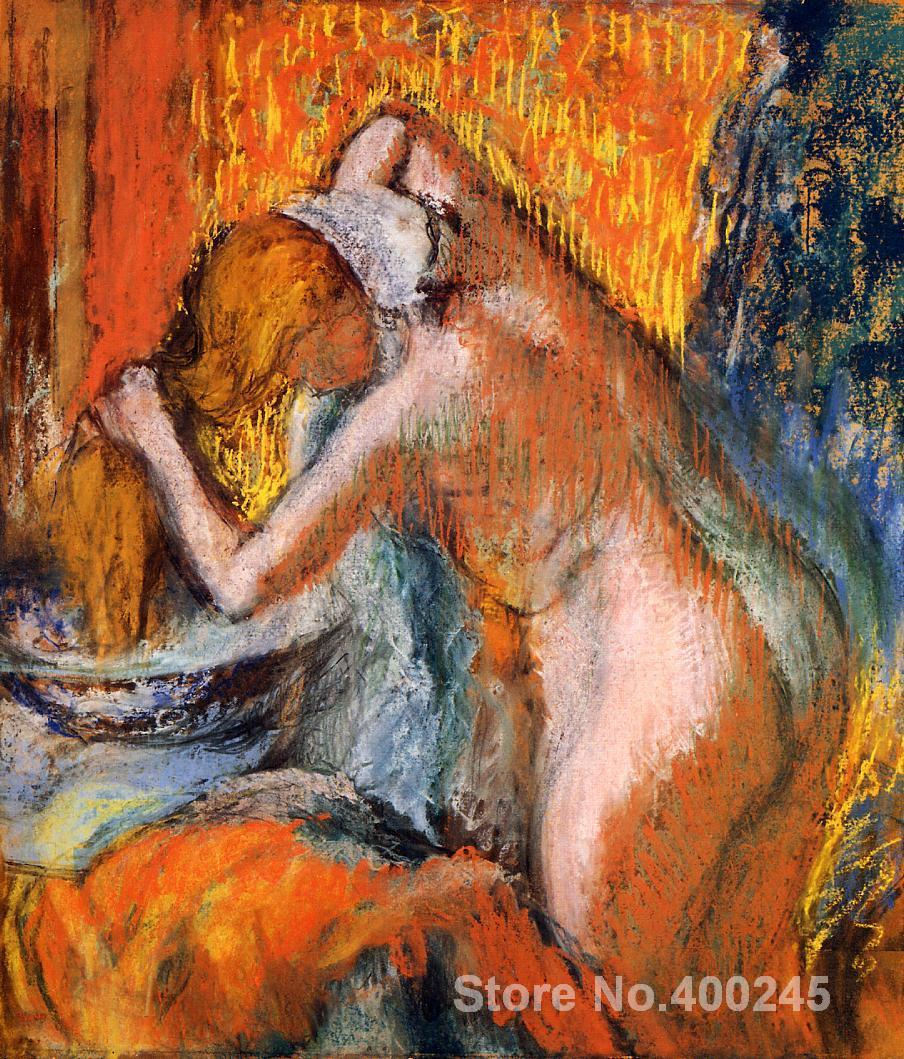 Portrait artist Edgar Degas After the Bath Woman Drying Her Hair oil Painting High quality Hand paintedPortrait artist Edgar Degas After the Bath Woman Drying Her Hair oil Painting High quality Hand painted