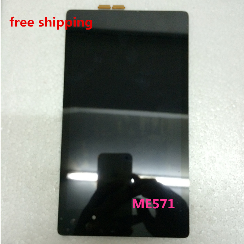 7 inch for ASUS Google Nexus 7 2nd Gen ME571 LCD Screen Display with Touch Screen Assembly black color free shipping original 7 inch for nexus 7 2nd gen 2013 lcd display touch screen digitizer assembly for asus google nexus 7 2nd free shipping