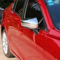 Estilo do carro para mazda 3 m3 axela 2017 2018 abs chrome porta lateral vista traseira espelho caso capa guarnição 2 pçs