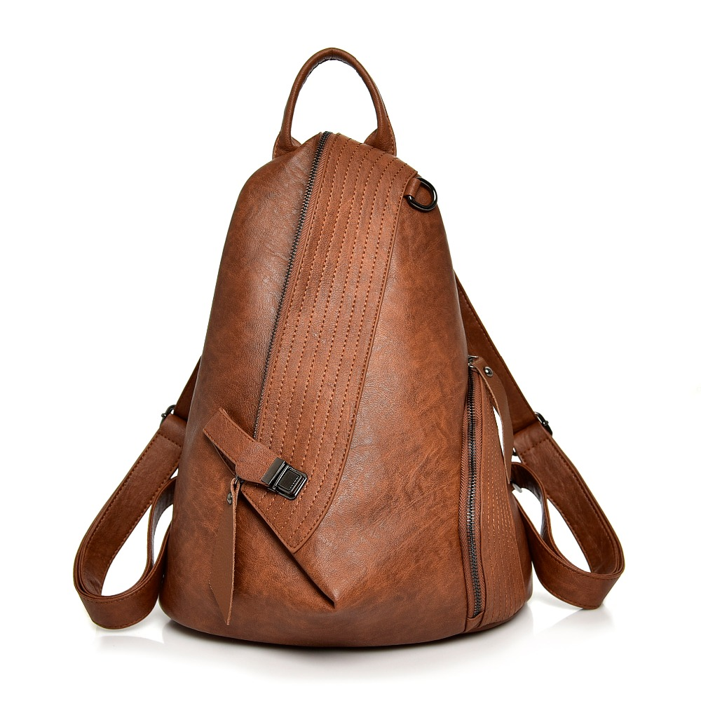 Backpack Women 2018 New Casual PU Soft Leather School Shoulder Bags For Teenage Girls Large Capacity Brand Travel Bag Female