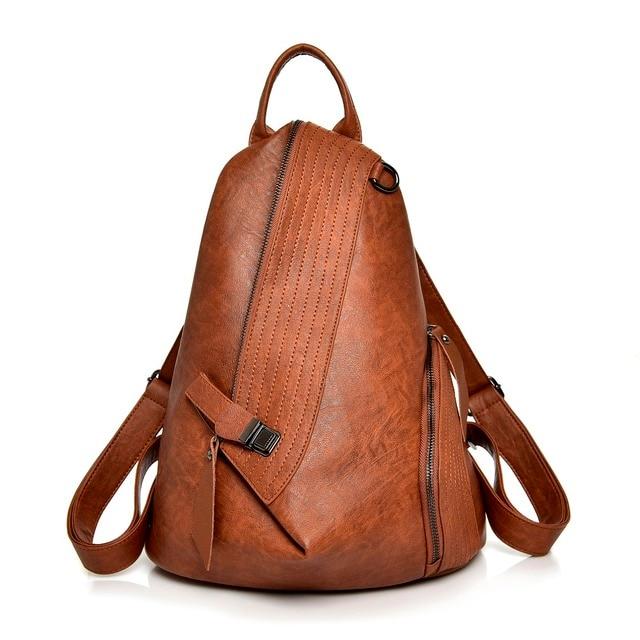 724955cb18 Sac à dos femmes 2018 décontracté souple en cuir école sacs à bandoulière  pour les adolescentes