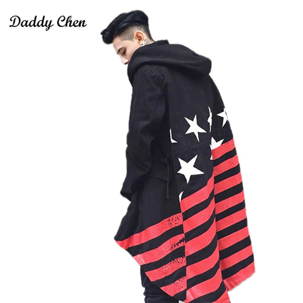 Fashion Man Shawl Trench Coat Winter Long Sleeve Jackets Headwear Hoody Windbreakers Jackets Coat For Men Woman Us size S-XL