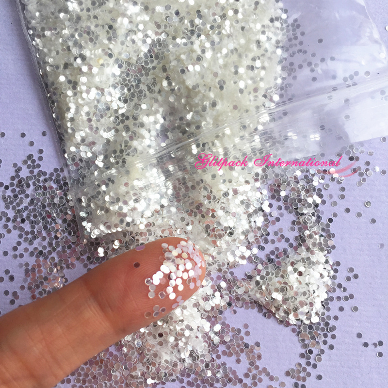 1kg B0100A 1mm dot highlighter silver glitter .04 inches chunky nail glitter solvent resistant glitters UV resin round glitter 1kg 3mm round dots glitter powder for nail polish or gel selectable glitter in bulk dot glitter silver gold loose wholesale