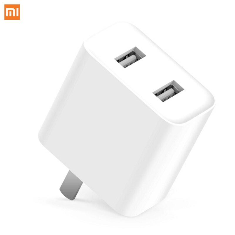 Xiaomi QC 3.0 Puissance Adaptateur Rapide Charge Double USB 110-240 V MAX 18 W 5 V 3.6A Charge Rapide Chargeur Mural pour téléphones Intelligents Appareils