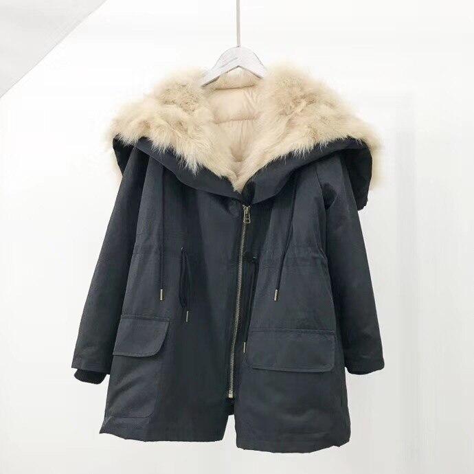 Véritable Le Col Réel Manteau Veste Parkas 2018 Amovible Femmes 4 1 Streetwear Survêtement 2 1 D'hiver Bas Raccoonfur 3 Doublure Dans Vers 3 Nouveau Casual nWfqFqzIU