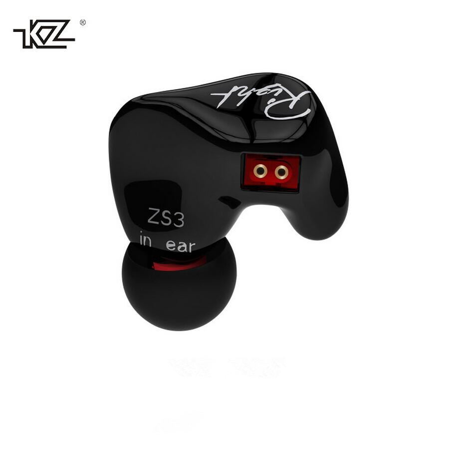 New Arrived KZ ZS3s Hifi Sport In-ear Earphone Dynamic Driver Noise Cancelling Headset With Mic Replacement Cable kz zsr bluetooth headphones balanced armature with dynamic in ear earphone 2ba 1dd unit noise cancel headset replacement cable