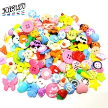 50PCS Lots Styles Mixed Flatback and Shank Plastic Buttons Childrens Apparel Sewing Accessories DIY Scrapbooking