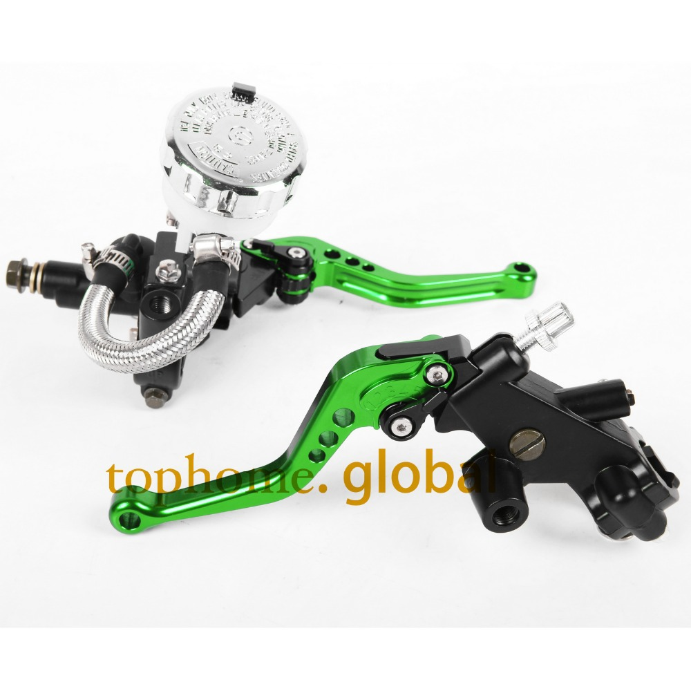 CNC Front Brake Master Cylinder&Clutch Brake Levers 7/8 with Adjustable Fluid Reservoir For Kawasaki NINJA 250R 2008-2009-2012 universal for kawasaki ninja 250r 1988 2012 cnc motocross off road clutch brake master cylinder reservoir levers dirt pit bike