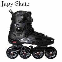 Japy スケートフライングイーグル F5s インラインスケート & 8 ハイパー + グラムホイールファルコン大人のローラースケートの靴スラローム送料スケートセバ Patines