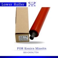 1PCS Photocopy Machine Lower Pressure Fuser Roller For Konica Minolta BH C 654 754 Copier Parts