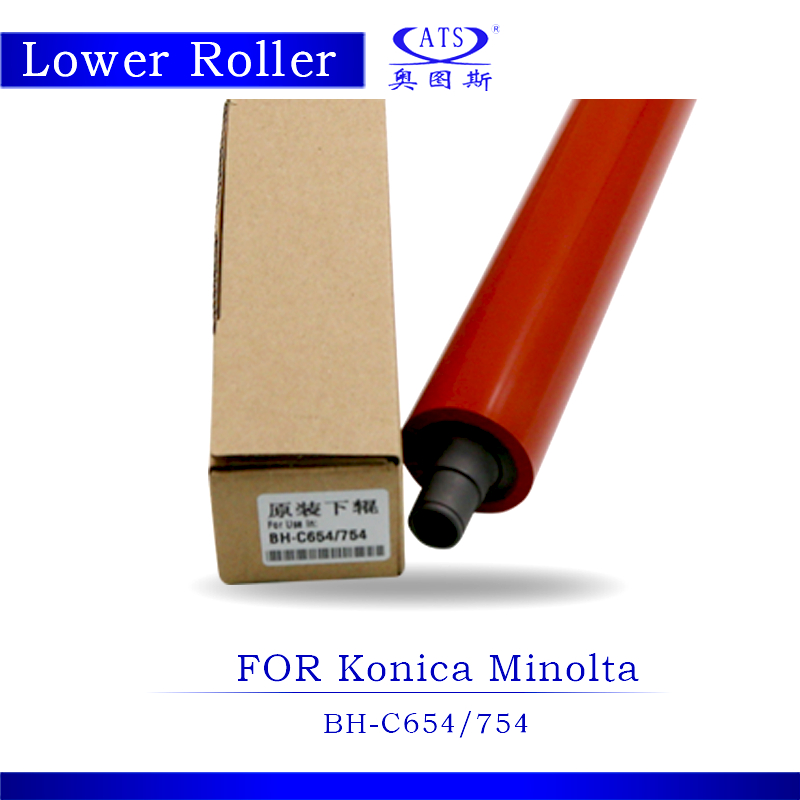 1PCS BHC654 BHC754 Lower Fuser Roller For Konica Minolta Bizhub C654 C754 Copier Parts Pressure roller Photocopy Machine free shipping upper fuser roller heat roller used for minolta di550 di570 di470 di450 copier spare parts laser parts 1pcs lot