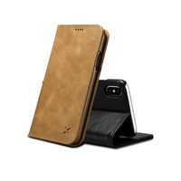 XOOMZ For iPhone Xs Max Vintage Wallet Case Book Design and Magnetic Closure Folio Leather Cover Stand Card Slot for iPhoneX Xs