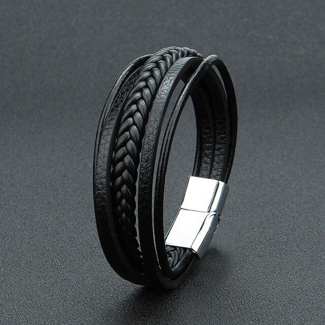 ZGNew Punk Braid Leather...