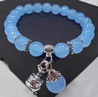 Natural crystal bracelets chalcedony stone bracelet female ethnic style ladies fashion handmade beaded hand jewelry