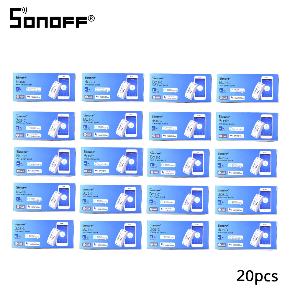 2/3/5/6/8/10/15/20 PCS SONOFF Basic Wifi Switch DIY 10A Wireless Remote Switch Light 220v Wifi Timer Smart Home Google Alexa