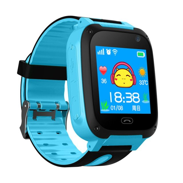 "1.44"" Color Screen Anti-lost Children LED Smart Watch LBS Tracker SOS Call Remot"