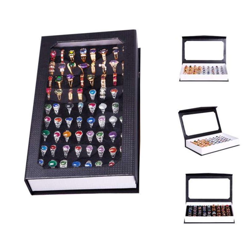 72 Slot Ring Box Velvet Jewelry Display Rings or Pendant Organizer Show Case Holder Box Jewelry Storage