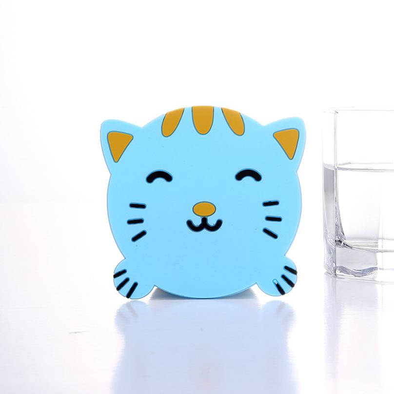 Ouneed 1PC Animal Pattern Silicone Cup Drinks Holder Mat Tableware Placemat May11 Drop Shipping