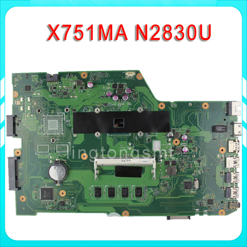 все цены на SAMXINNO for ASUS X751MA motherboard X751MD REV2.0 Mainboard Processor N2830 2G Memory On Board 100% test онлайн