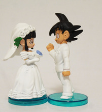 Dragon Ball Goku and Chi-Chi Wedding Action Figures 2 Pcs/set