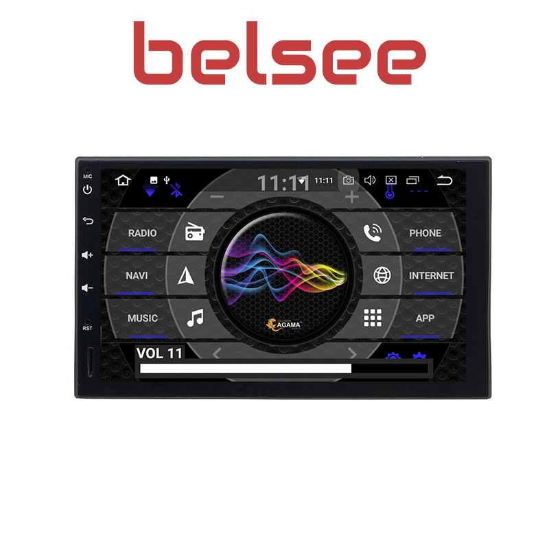 Belsee Double 2 Din Android 8.0 Universal Car Radio GPS Navigation 1024*600 PC 7 IPS Touch Screen Stereo Octa Core Ram 4GB+32GB