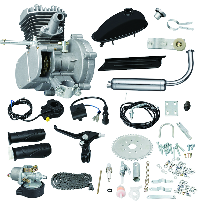 Bike Engine Kit 80CC Motorized Bicycle Conversion Gas Petrol Motor Complete With Mechanical Speedmeter 2 Stroke 1Cylinder