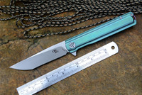 CH3513 M390 Blade Hunting Knives Titanium handle Green or Grey Colors Tactical Folding Knife collections Gift package
