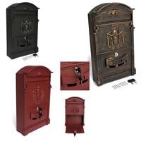 41x25x8cm Retro Mailbox Villas Post Box European Lockable Outdoor Wall Newspaper Boxes Secure Letterbox Garden Home Decoration