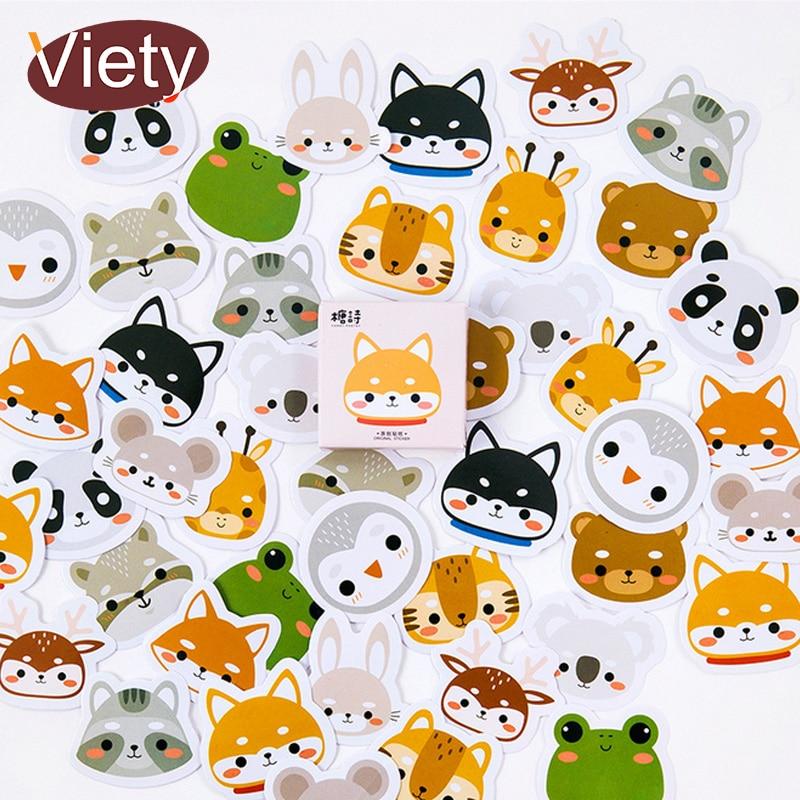 45 Pcs/lot Cartoon Lovely Animal Creative Paper Sticker Decoration DIY Ablum Diary Scrapbooking Label Sticker Kawaii Stationery
