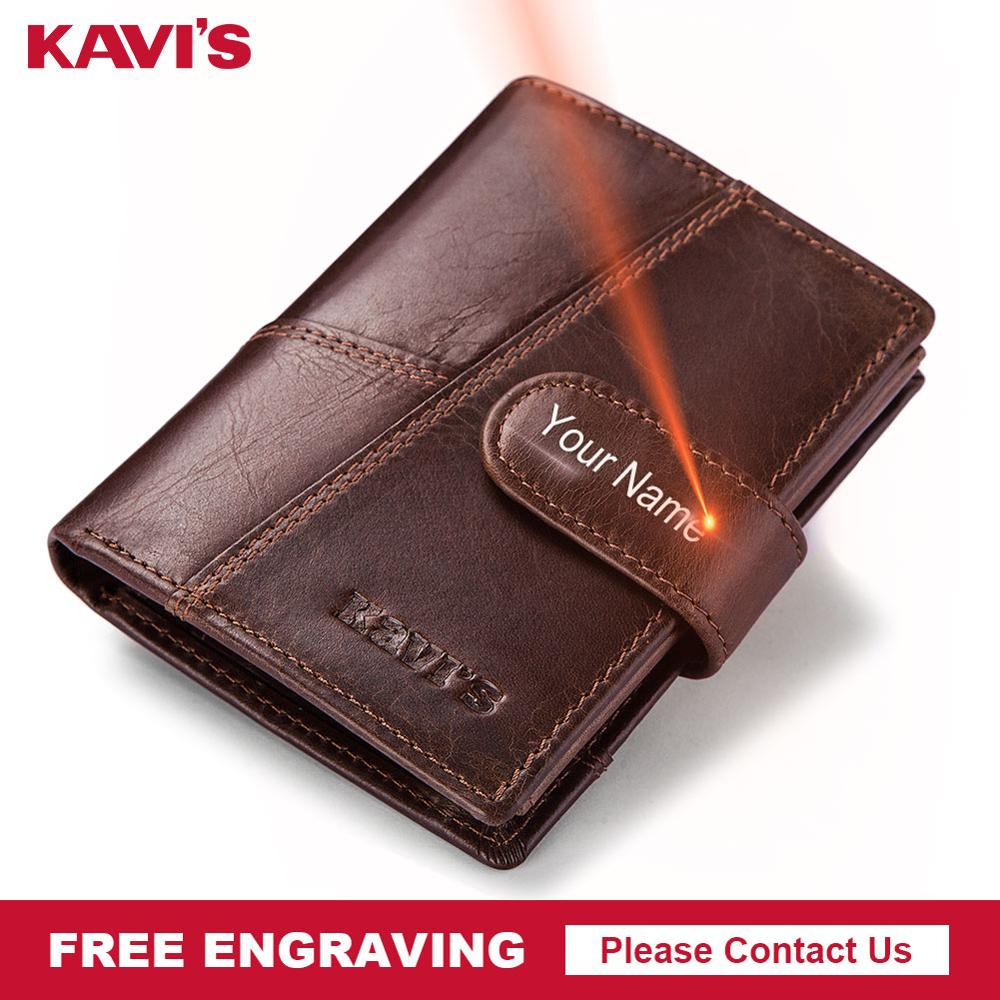 KAVIS Free Engraving Genuine Cow Leather Men Wallet Crazy Horse Coin Purse Portomonee Walet PORTFOLIO Cuzda Card Holder  MiniKAVIS Free Engraving Genuine Cow Leather Men Wallet Crazy Horse Coin Purse Portomonee Walet PORTFOLIO Cuzda Card Holder  Mini
