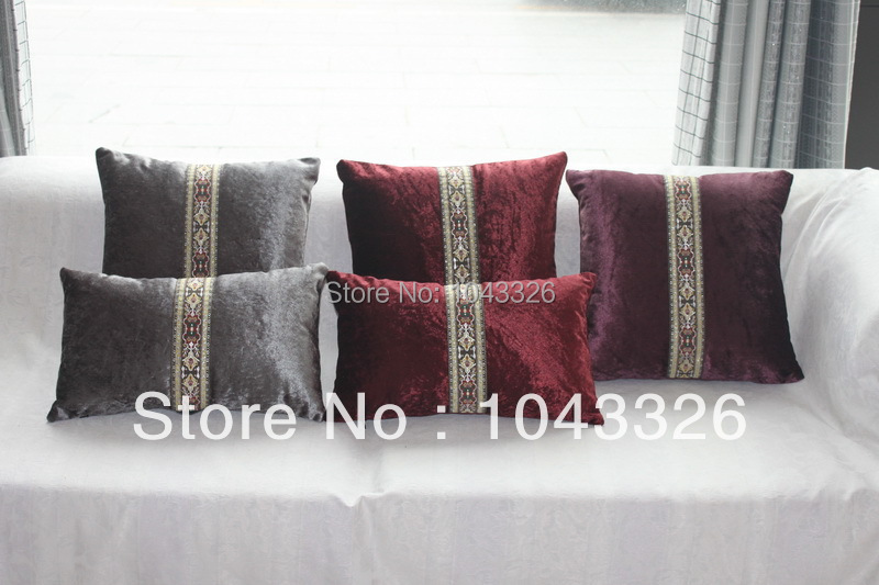 luxury home decoration velvet antique Sofa throw Cushion Pillow 45*45cm or 30*50cm with filling