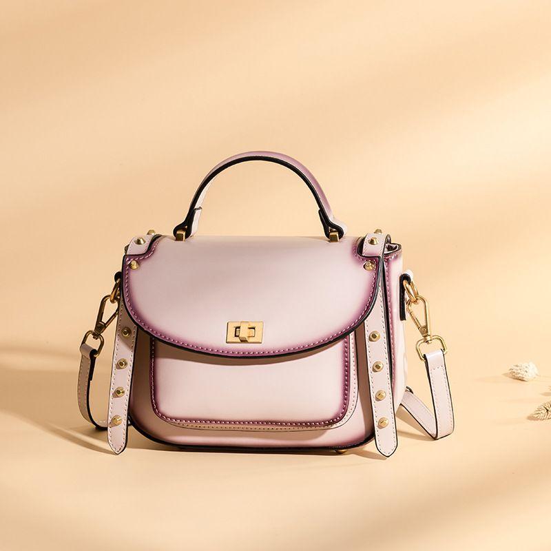 LOEIL New wave 2018 bag female retro Liu Ding shoulder bag fashion portable Messenger bag leather small square bag цена