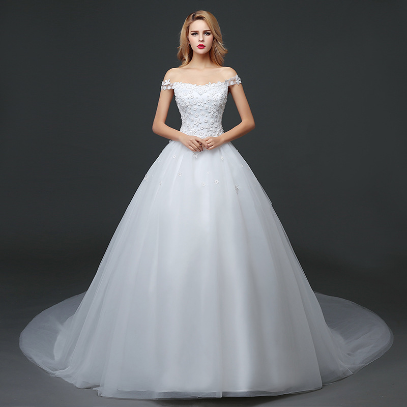 2017 High Quality Lace Wedding Gown Luxury Women Wedding Dress Sexy Ball  Gown Plus Size Wedding Dresses With Train WED90026 In Wedding Dresses From  Weddings ...