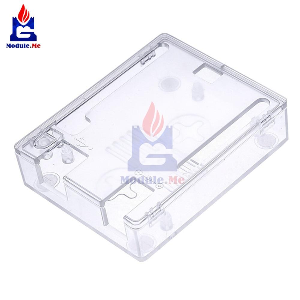 Trasparente Custodia In Plastica ABS Borsette Trasparente Protettiva Box Enclosure Per Arduino UNO R3 CH340 ATmega328P Atmega16U2 Bordo di Un
