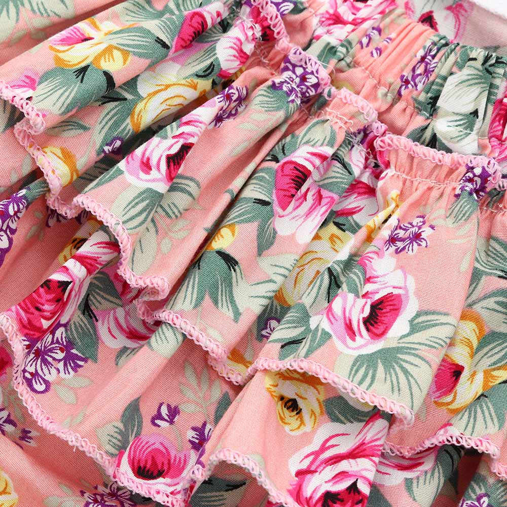 ฤดูร้อนเด็กทารก Romper เสื้อผ้าเด็กทารก rompers เด็กทารก Romper พิมพ์ดอกไม้ Ruffles Jumpsuit ชุดเสื้อผ้าฤดูร้อน