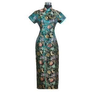 Image 4 - Chinese traditional Womens Long dress Qipao Cheong sam Wedding Evening Dress Size S M L XL XXL XXXL   C0001