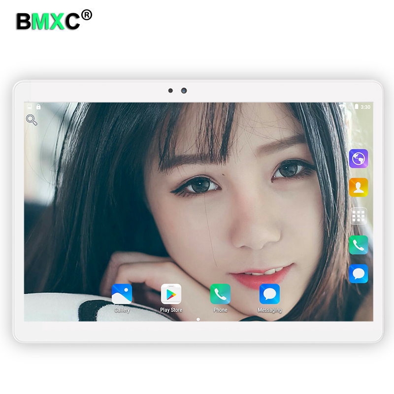 BMXC Tablette 10.1 inch Android 7.0 Tablet Pc Octa Core 4GB RAM 32 64GB Built-in 3G Phone Call Dual SIM Card Tablets PC FM WIFI lnmbbs car tablet android 5 1 octa core 3g phone call 10 1 inch tablette 1280 800ips wifi 5 0 mp function 1 16gb multi play card
