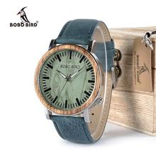 BOBO BIRD Watch Men Wooden Metal Quartz Watches Special Design Men's Wristwatches in Wooden Box Timepieces relogio masculino