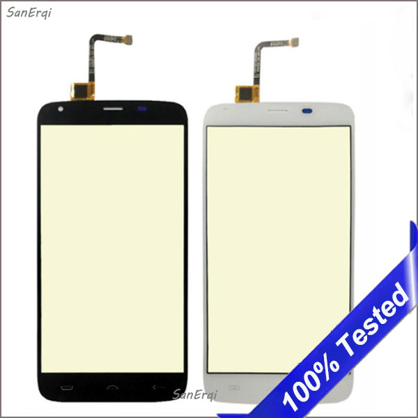for <font><b>Homtom</b></font> <font><b>HT6</b></font> Touch <font><b>Screen</b></font> Glass Panel for Doogee T6 Digitizer 5.5 Inch New Replacement image