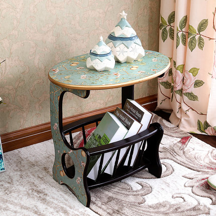 american style countryside side cabinet sofa side table small coffee table painted simple european pastoral sofa