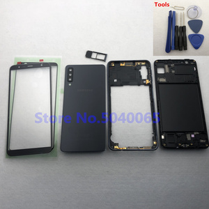 Image 2 - For Samsung A7 2018 SM A750F A750F Full Housing Front Mid Frame Plate Bezel Battery Back Cover Door Case A7  A750 + Front Glass