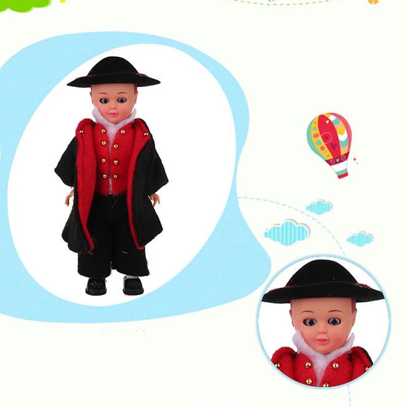 7.5inch Baby French Man Clothes Boys Ethnic Dolls Fashion Mini Boys Dolls Children's Beautiful Dolls Best Gift For Kids 1003-025