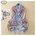 1 UNID 110*110 CM 2016 Otoño Nueva Llegada de la Alta Quility Flores Sarga de Algodón Mujeres Bufanda Cuadrada de la Mujer Nueva Cuadrado de algodón Pashminas