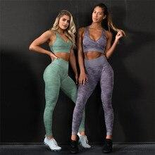 NORMOV Camouflage Seamless Leggings High Waist Workout Yoga Pants women Push Up Sport Fitness Legging Gym Women Yoga leggings
