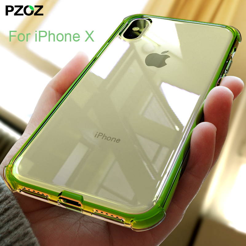 buy popular bcb07 3a33c US $3.49 30% OFF|PZOZ For Apple iPhone X Case Cover Bumper 360 Shockproof  Accessories Luxury Clear Silicone Housing For iPhoneX 10 Phone Case-in ...