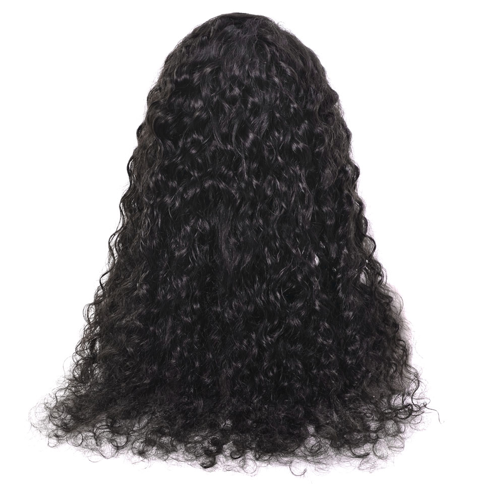 YVONNE Water Wave Wigs Natural Color Brazilian Virgin Lace Front Human Hair Wigs With Baby Hair