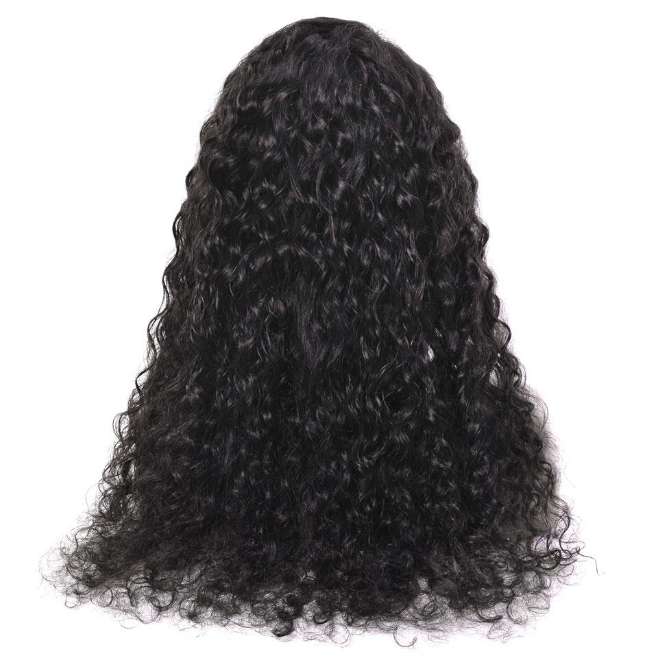 YVONNE Vatten Wave Parykar Naturliga Färg Brasilianska Virgin Lace - Mänskligt hår (svart) - Foto 4