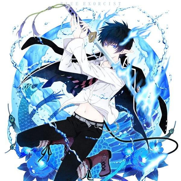 mother s day gift blue exorcist anime okumura rin single side mini