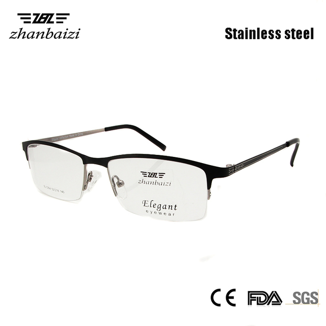 1c274038994 High Quality Metal Glasses Men Optical Clear Male Spectacle Frame Half Rim  Eyewear Nerd Glass Gents Man oculos Accept Rx Lens