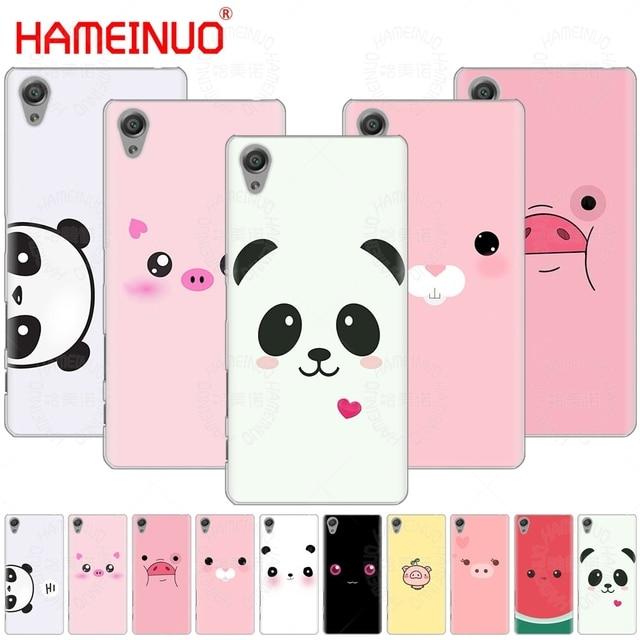 Hameinuo Cute Panda Pig Smile Emoji Cover Phone Case For Sony Xperia